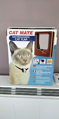 Cat Mate Electromagnetic Cat Flap 4 Way Locking Magnet R54B Door Silent