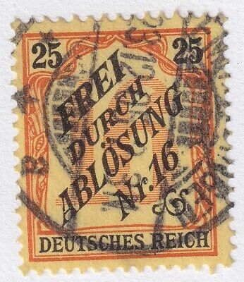 GERMANY (FOR USE IN BADEN) Scott #OL21 ~ 25pf ~ USED ~ CAT VAL $52.50