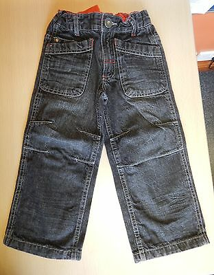 TU - black jeans with adjustable waist - aged 4 years