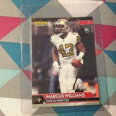 Marcus Williams #22 Saints 1 of 300 Made 2017 Panini Instant All-Rookie Team RC