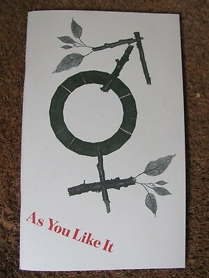 As You Like It Shakespeare's Globe Theatre London Programme Signed Cast