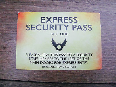 Harry Potter And The Cursed Child London Theatre Express Security Pass Part One
