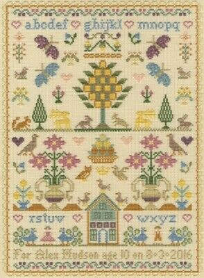 MOIRA BLACKBURN-BIRTHDAY SAMPLER-TRADITIONAL Sampler Chart
