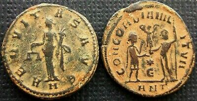 Ancient Roman Imperial;  Lot of of 2 AE Coins Claudius II Gothicus & Diocletian