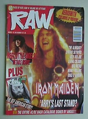 Iron Maiden Raw No.118 Magazine 3 March 1993 - Steve Harris Cover + More Inside