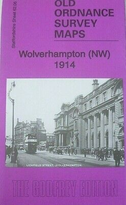 Old Ordnance Survey Maps Wolverhampton NW Staffordshire 1914 Godfrey Edition New