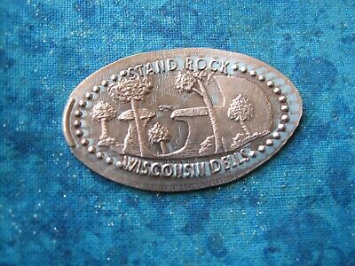 STAND ROCK WISCONSIN DELLS Elongated Penny Pressed Smashed 28