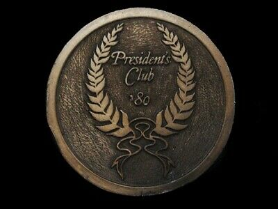 Nd25135 Vintage 1980 **President's Club '80** Belt Buckle