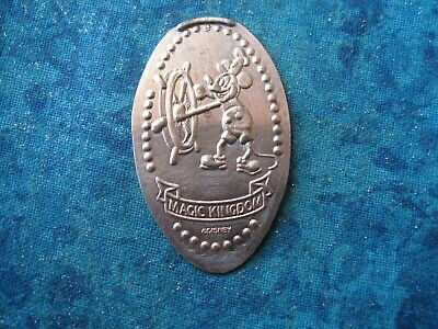 DISNEY STEAMBOAT WILLIE Elongated Penny Pressed Smashed 28