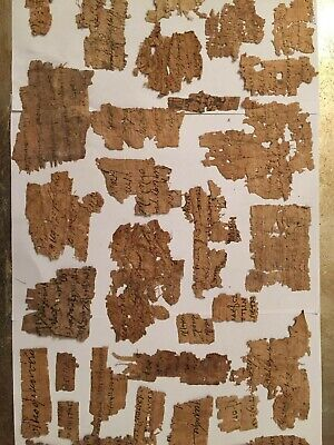 A Smaal Greek-Coptic Ancient Papyrus Text Fragment Collection