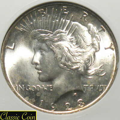 1923 Silver Peace Dollar $1 Old Anacs MS64 90% Silver