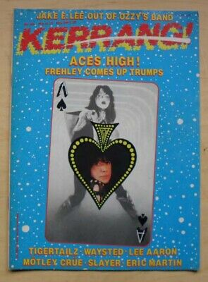 Ace Frehley Kerrang No.146 Magazine May 1987 Ace Frehley Cover (Kiss) Uk