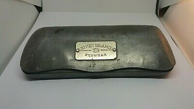 Rare Vintage River Island Metal Glasses Spectacles  Case