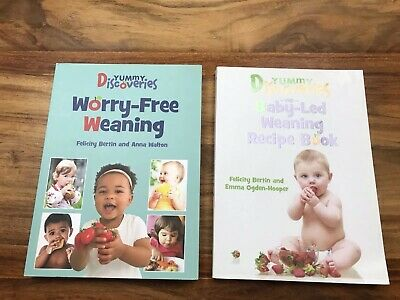 Yummy Discoveries Book Bundle - Baby-Led Weaning Recipe Book, Worry-Free Weaning