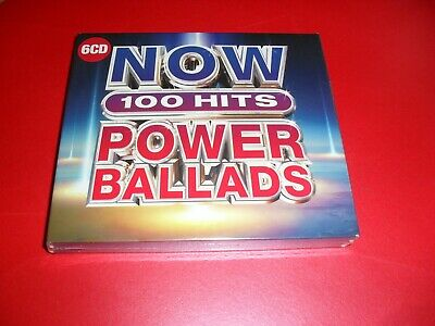 Now 100 Hits Power Ballads 6 Cd Set New Out Sealed.