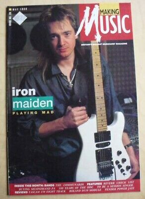 Iron Maiden Making Music Magazine May 1988 Adrian Smith Cover With More Inside(L