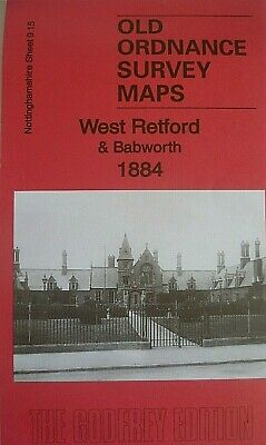 Old Ordnance Survey Map West Retford & Babworth Nottinghamshire 1884 Godfrey Edt