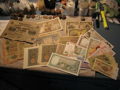 Lot of Approx. (20) Foreign Currency Bills - Mixed Condition / Dates - 37SU-2