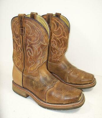 ed881c83e1b MEN'S DOUBLE-H USA DH3567 Steel Square Toe Saddle Western Boots 11 EE