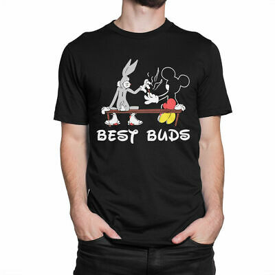 Bugs Bunny And Mickey Mouse 'Best Buds' T-Shirt Size M-3XL,100%Cotton.