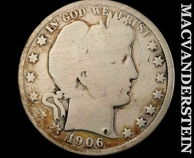 1906-D Barber Half Dollar-Scarce Better Date!!#b3945