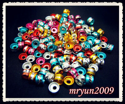 Spacer Making 100PCS 6MM Rondelle Aluminum Mixed alloy Beads Ring Free Jewelry