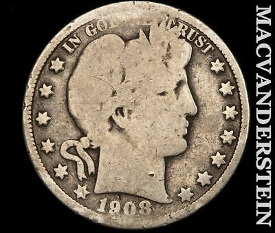 1908-D Barber Half Dollar-Scarce Better Date!!  #e227