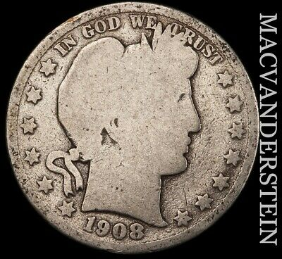 1908-D Barber Half Dollar - Scarce!!  Better Date!!  #e64