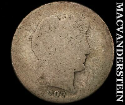 1907-S Barber Half Dollar-Scarce Better Date!!  #e186