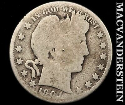 1907-D Barber Half Dollar-Scarce Better Date!!  #e216