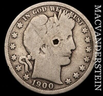 1900 Barber Half Dollar- Scarce !! Better Date !! #e370