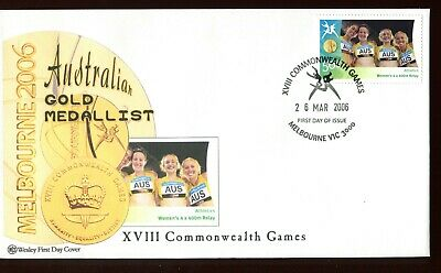 2006 XVIII Commonwealth Games Gold Medal Winner (#44 Women's 4 x 400) Wesley FDC