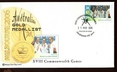 2006 XVIII Commonwealth Games Gold Medal Winner (#58 Women's 4 x 100) Wesley FDC