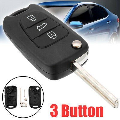 3 Button Flip Remote Key Fob For Kia Ceed Picanto Sportage Hyundai i20 i30 ix35