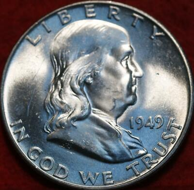 Uncirculated 1949 Philadelphia Mint Silver Franklin Half