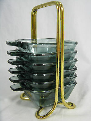 WMF Glas Wilhelm Wagenfeld design Stapel Aschenschalen stackable glass ashtrays