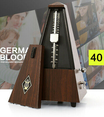 Piano Guitar Violin Antique Wood Mechanical Metronome Tempo Wooden Music Timer