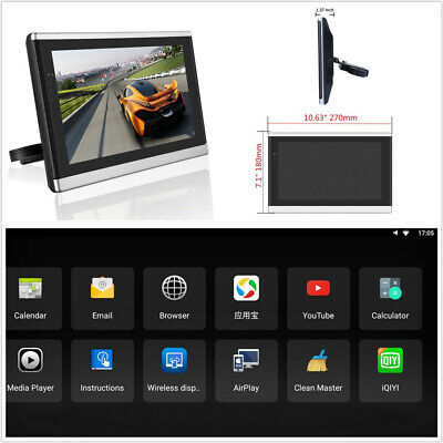 "Touch Screen 10.1"" Android 7.1 Quad-Core Car Headrest Monitor HDMI 3G/4G BT OBD"