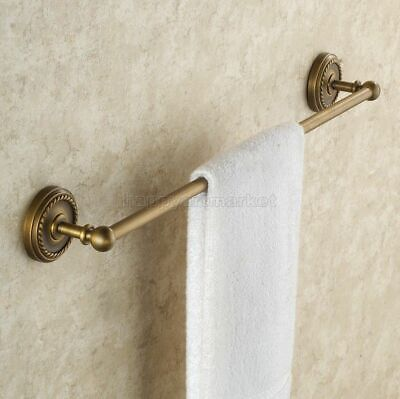 Antique Brass Towel Rail Holder Bathroom Wall Mounted Single Towel Rails Bars
