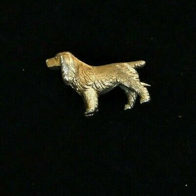 Lovely Silver 925 ' Retriever' Dog Brooch  Weight. 7.5 Gms.