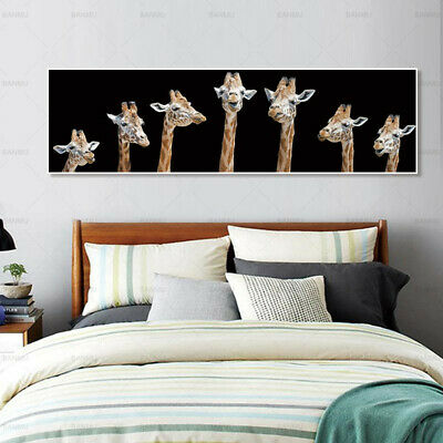 Giraffe Animal Canvas Painting Poster Print Wall Art Picture Home Decor
