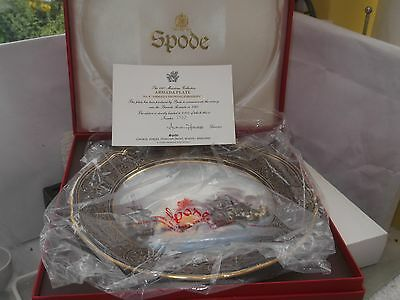 1987 Boxed Ltd Ed Spode Armada Collection Plate No 4 Armada Showing Fireships