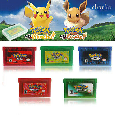 Nintendo Game Boy Advance Pokemon Emerald Fire Red/Ruby Leaf Green Sapphire Gba