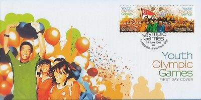Singapore stamp FDC 2008 Youth Olympic Games