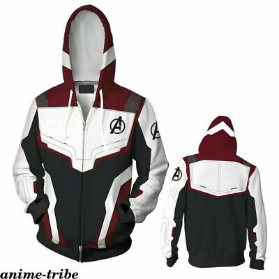 Avengers Endgame Quantum Realm Sweatshirt Jacket Advanced Tech Hoodie Cosplay