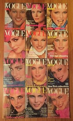 Vogue 1979 All 12 Issues 6 With Gia Carangi, Karl Lagerfeld Esme Kim A Janice D+