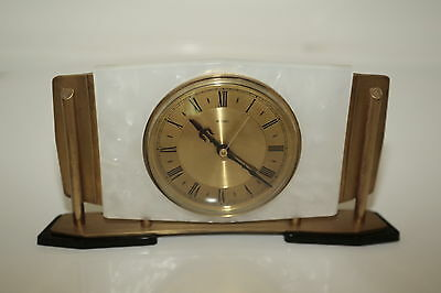 Vintage Metamec Mantel Clock Art Deco 6 x 11.5ins Battery Operated VGC