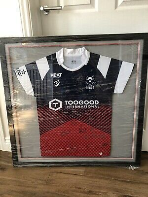 Bristol Bears Rugby Shirt Signed And Framed