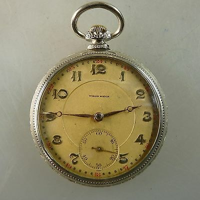 Herrentaschenuhr Wolan / Norbal Watch Silber 1910 - TOPZUSTAND (43742)