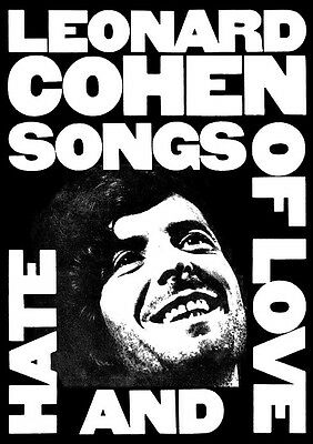 Poster LEONARD COHEN - Songs Of Love And Hate ca60x85cm NEU 15411